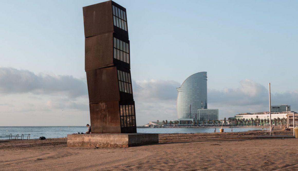 Balade sur le passeig maritim de Barcelone