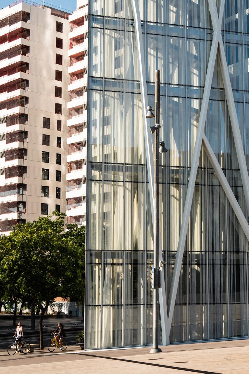La torre telefonica Diagonal Zero à Barcelone