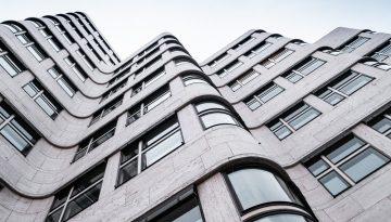 Architecture de la Shell Haus à Berlin
