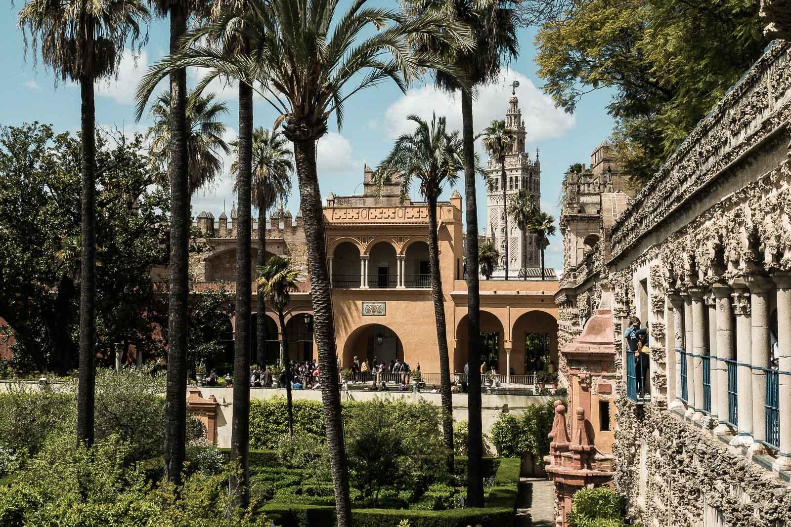 Panorama sur l'alcazar de Séville