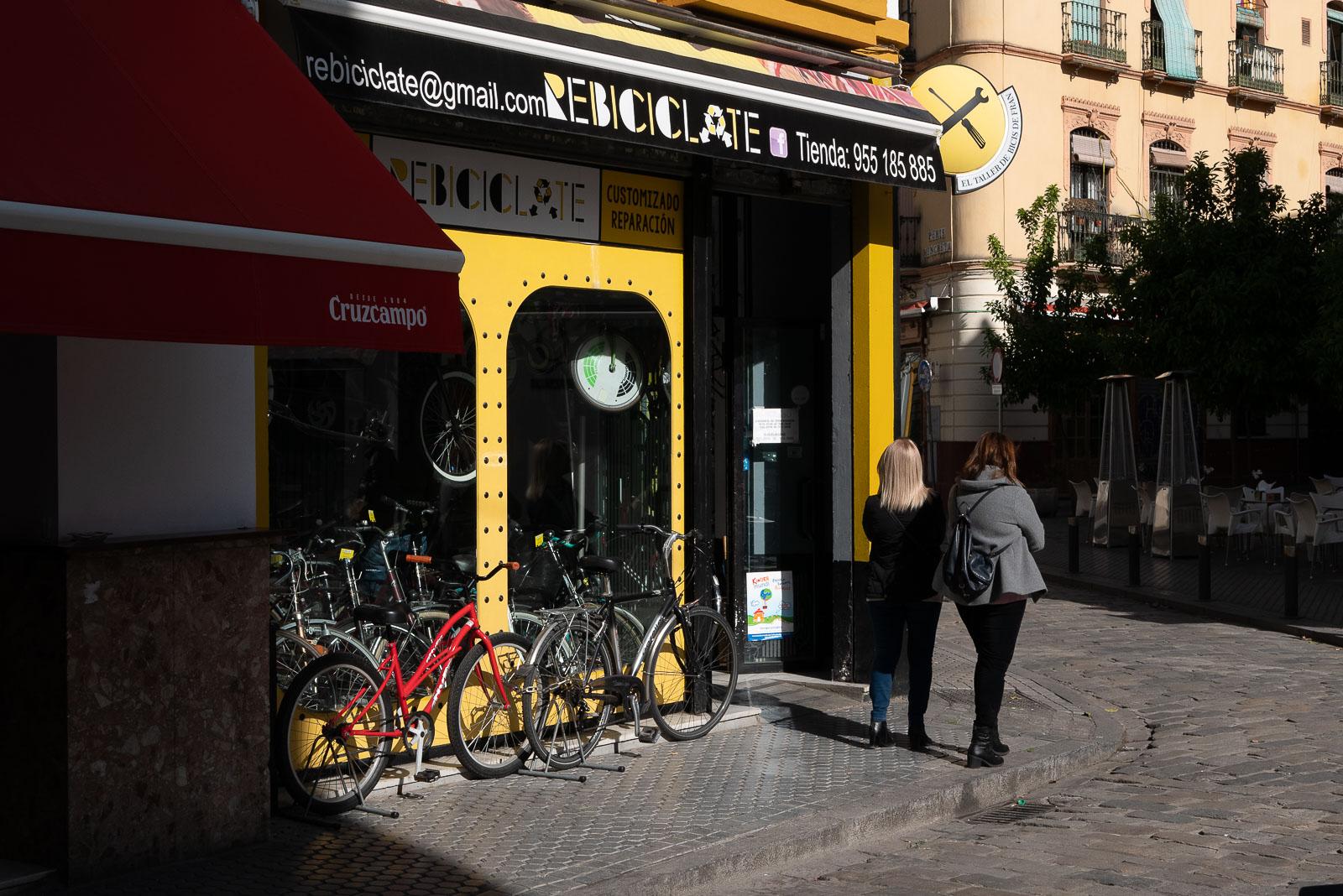 Devanture de magasin à Séville