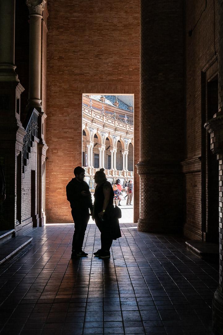 Sur la place d'Espagne à Séville