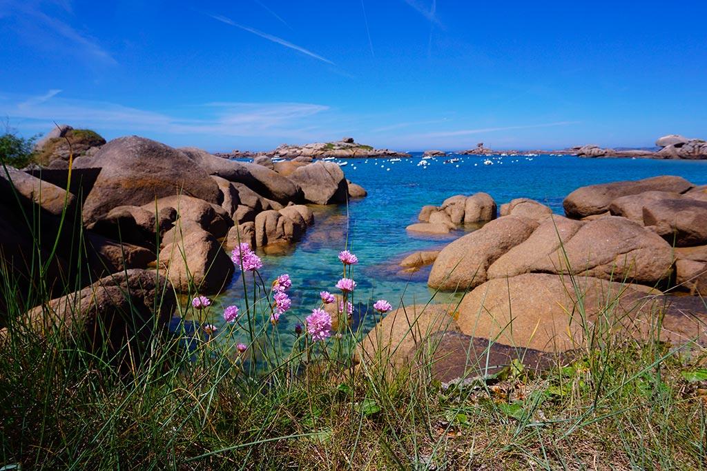 La côte de granit rose en France