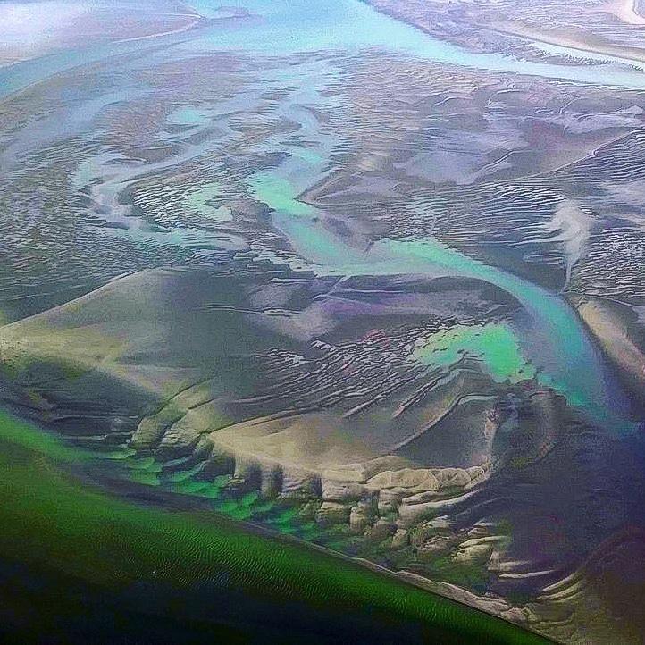 Vue aérienne de la baie de Somme