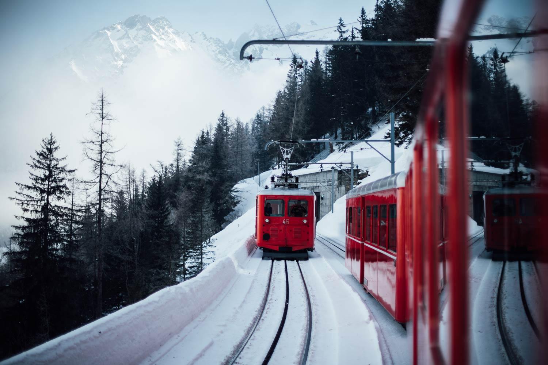 Prendre le train à crémaillère à Chamonix