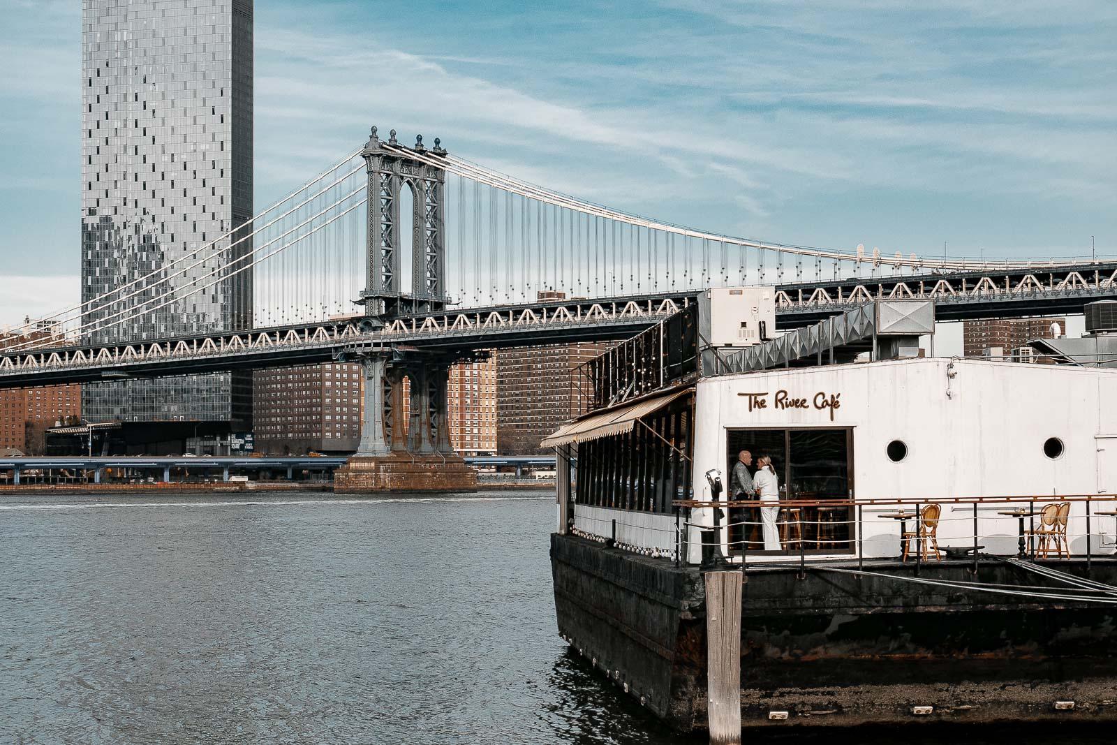 La Manhattan Bridge et New York