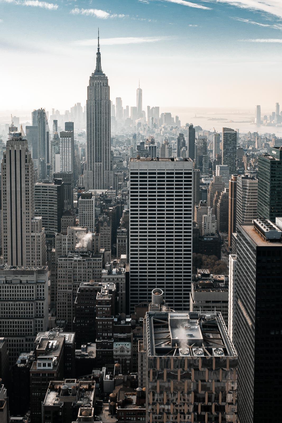 Vue aérienne sur New York