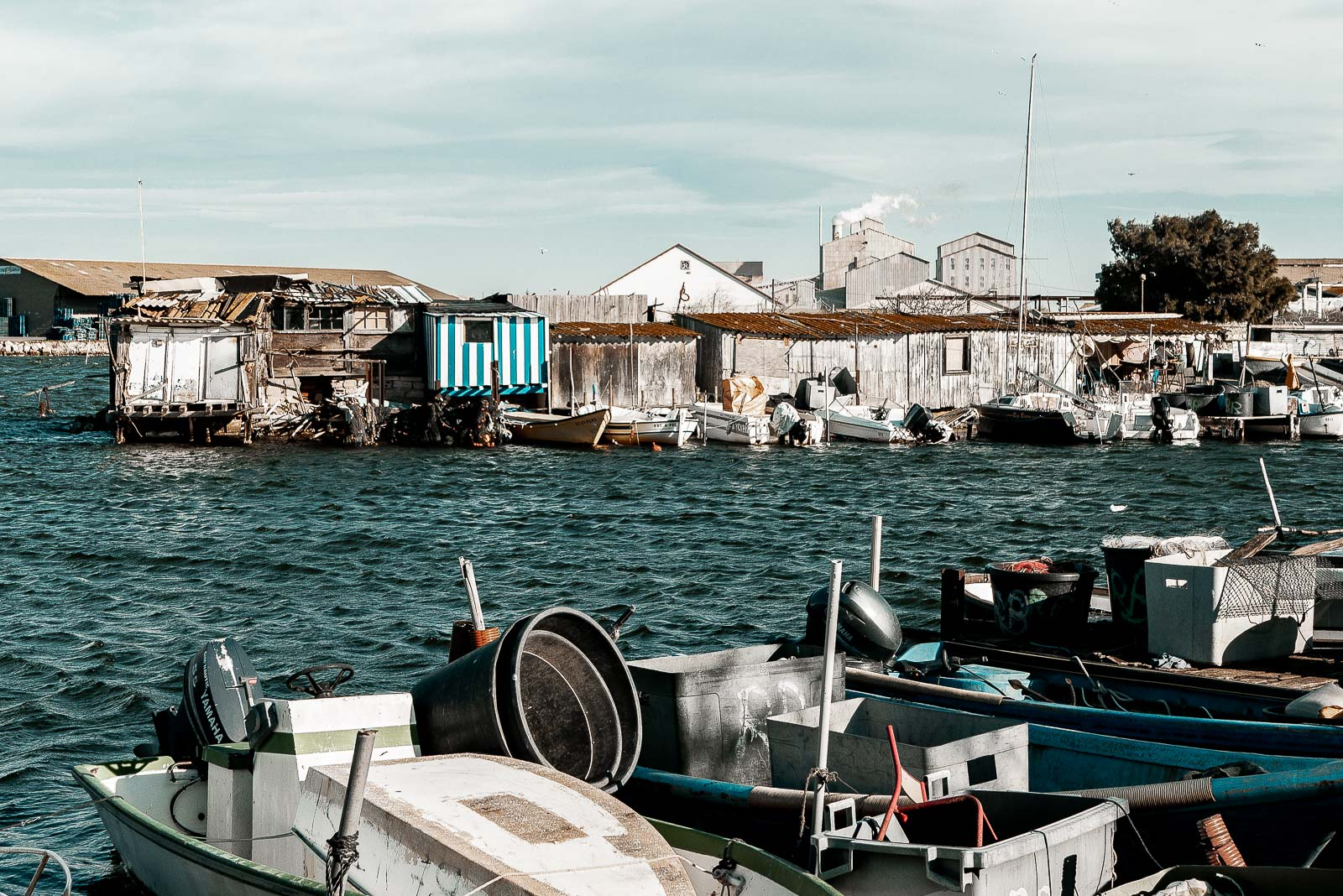 La quartier de la pointe courte à Sète