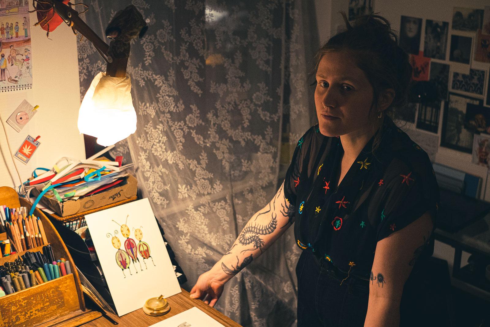 Alice, illustratice éco féministe installée à Berlin