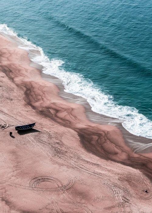 Vue panoramique sur la plage de Nazaré