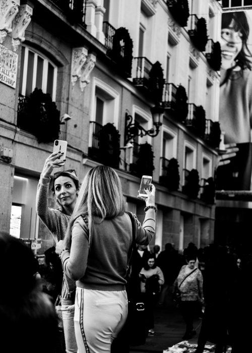 La folie du selfie à Madrid